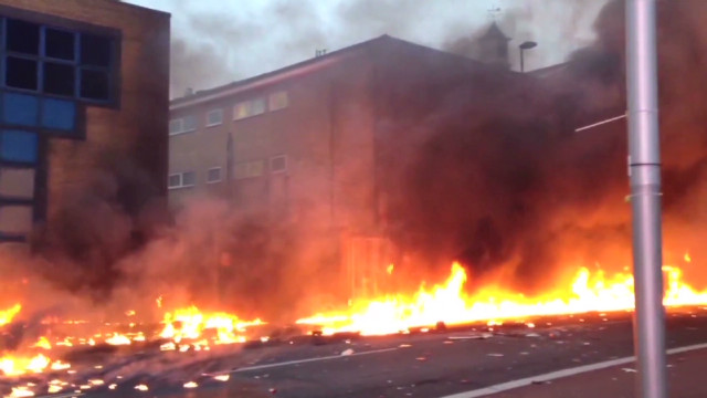 Ball of flames after London copter crash