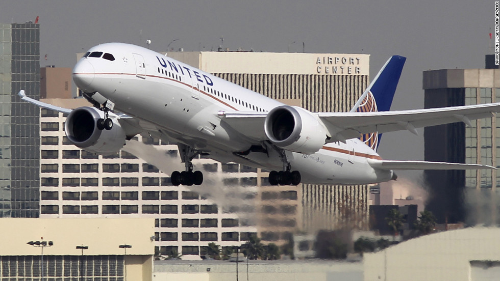 United Airlines became the first U.S. carrier to operate the Dreamliner in 2012 and now has 17 in its fleet. One is shown here taking off at Los Angeles International Airport on January 9, 2013.