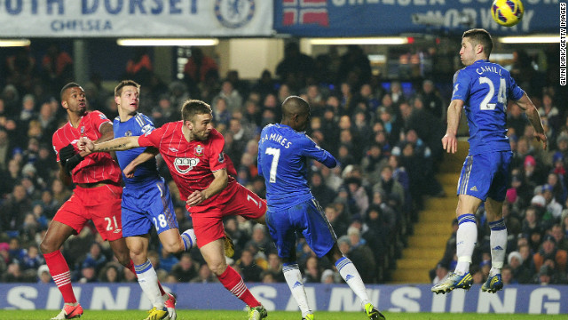 Rickie Lambert came off the bench to spark a Southampton comeback  as Chelsea threw away a two-goal lead to draw 2-2.