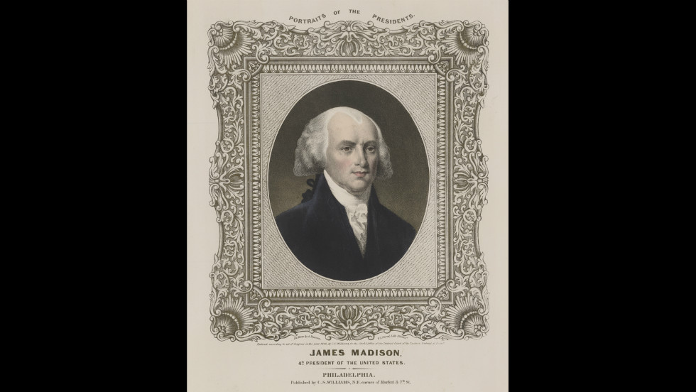 James Madison was inaugurated for his second term on March 4, 1813.