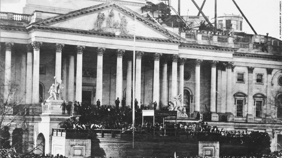 The first inauguration of Abraham Lincoln takes place on March 4, 1861.