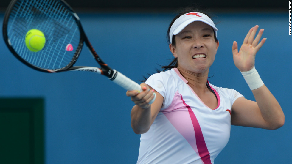 China's Zheng Jie plays a return during her women's singles match against Germany's Julia Goerges on January 18. Goerges won 6-3, 1-6, 7-5.