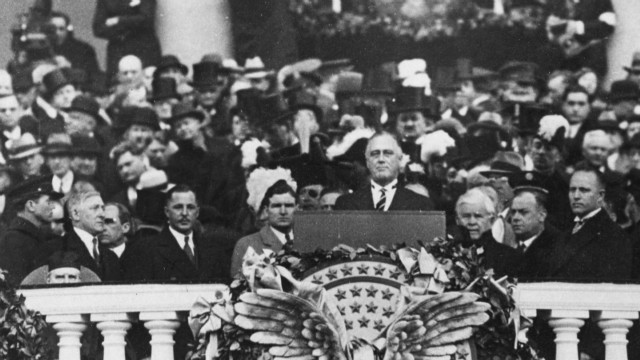 1933: FDR projects optimism in speech