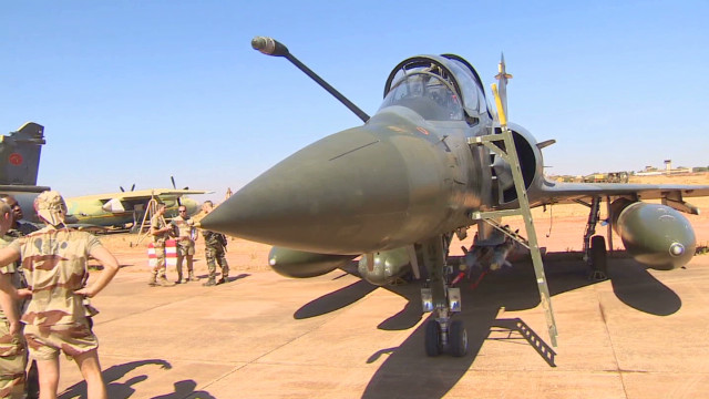 See inside French military base in Mali