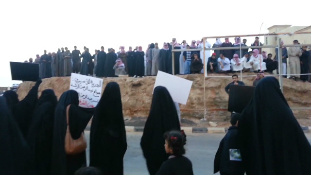 Saudi women protesting detentions
