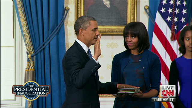 Pres. Obama takes oath for second term