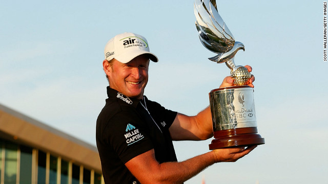 Welshman Jamie Donaldson claimed his second European Tour victory at the Abu Dhabi Golf Championship