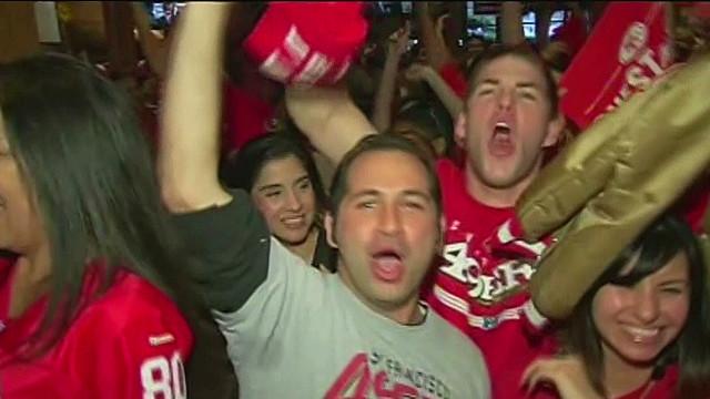 Baltimore, San Francisco fans celebrate