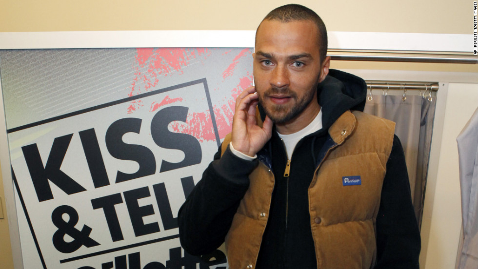 Jesse Williams shows off his stubble.