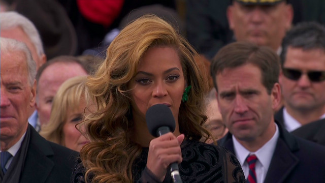 Beyonce sings at inauguration