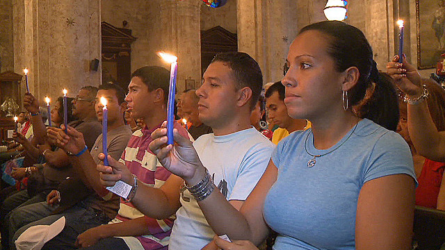 Cubans pray for a Chavez recovery