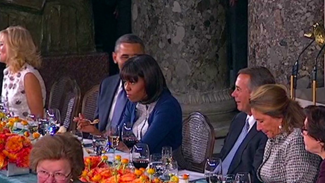 Michelle Obama eye roll at Boehner?