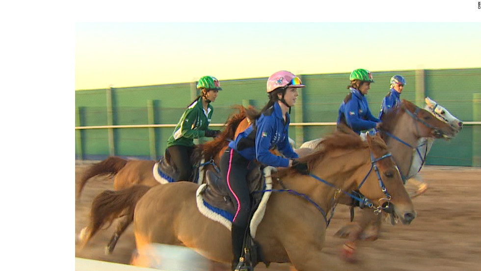 Young women riders are bursting to prominence on the international endurance riding scene, and undergo special training in the UAE.