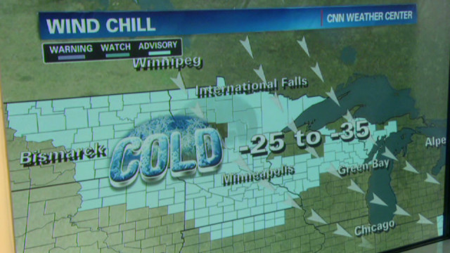 Bitter cold sweeps across U.S.