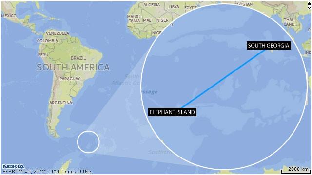 Shackleton's 800 mile journey