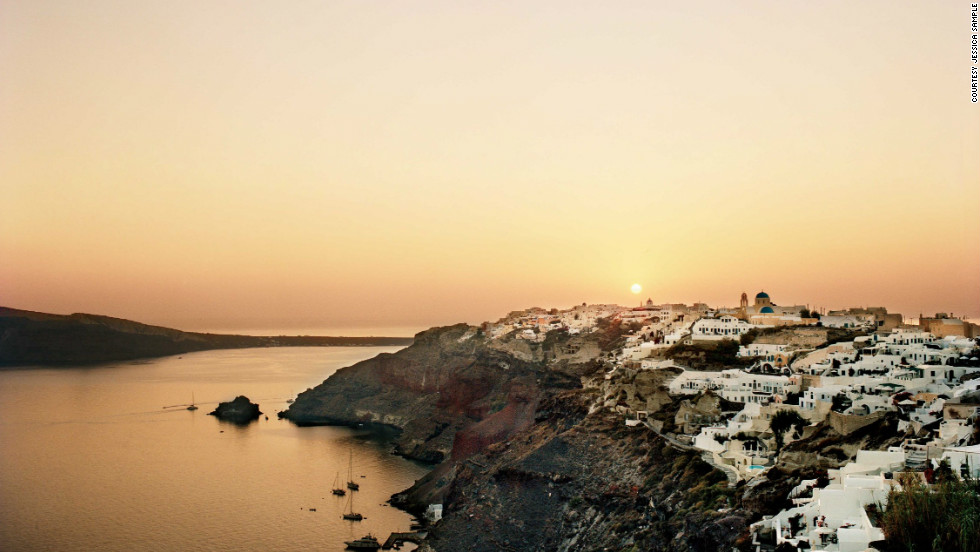 Santorini has more than beautiful beaches. Visitors can explore the archeological sites and enjoy its lovely wines.