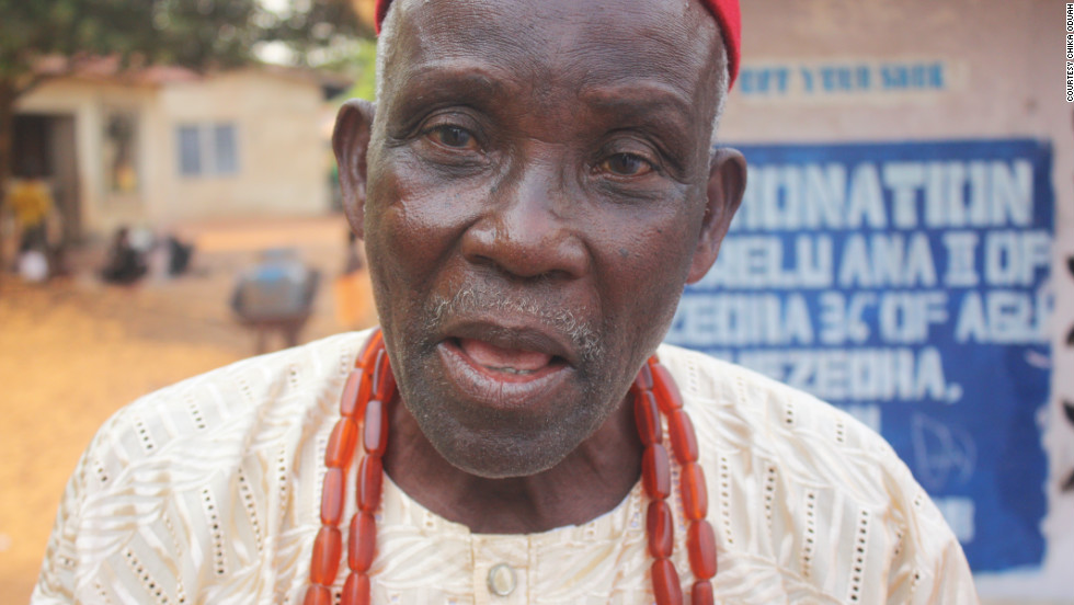 Onyibor Oloh serves on the council of chiefs to King Eri. Oloh says Igbo people are gaining a better understanding of who they are. (Courtesy: Chika Oduah.)