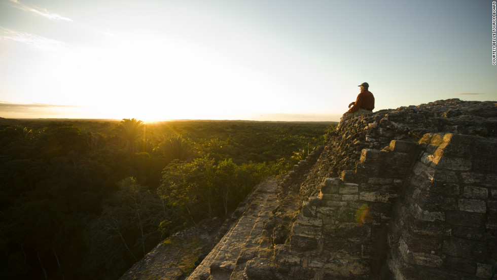 The ruins of Lamanai are one of largest Maya sites in Belize. The name means submerged crocodile, and you can expect to see many if you take one of the water taxis to reach the ruins.