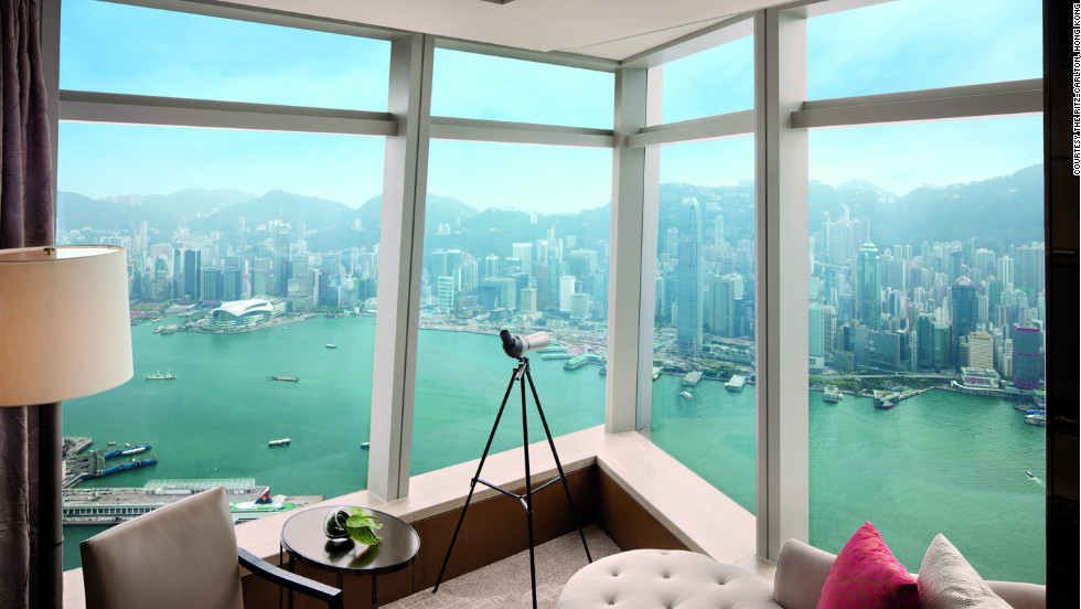 Hong Kong's Victoria Harbour -- even better when viewed from a suite.