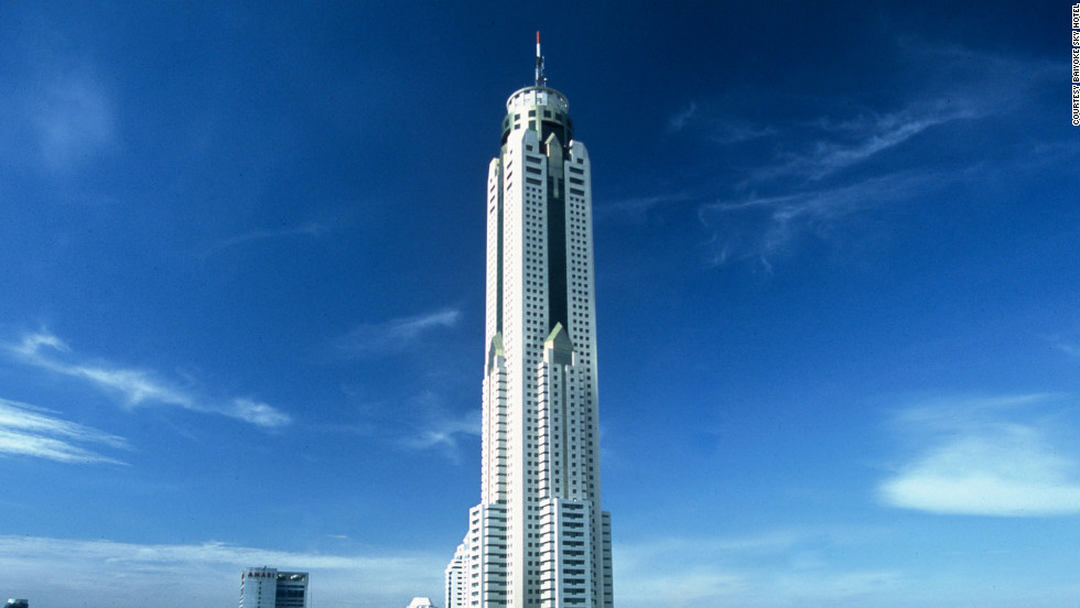 Baiyoke Sky Hotel, Bangkok -- equal in height to 182 people standing on top of each other.