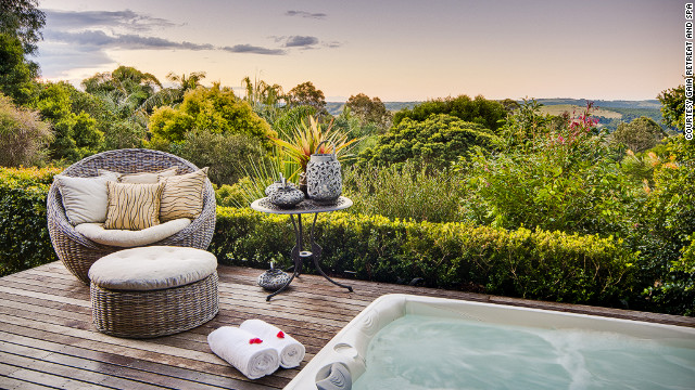 Gaia Retreat overlooks the Pacific Ocean at Australia's Byron Bay.