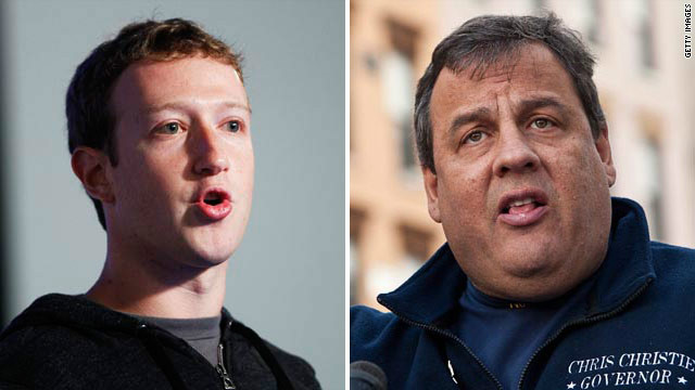 Zuckerberg to fundraise for Christie