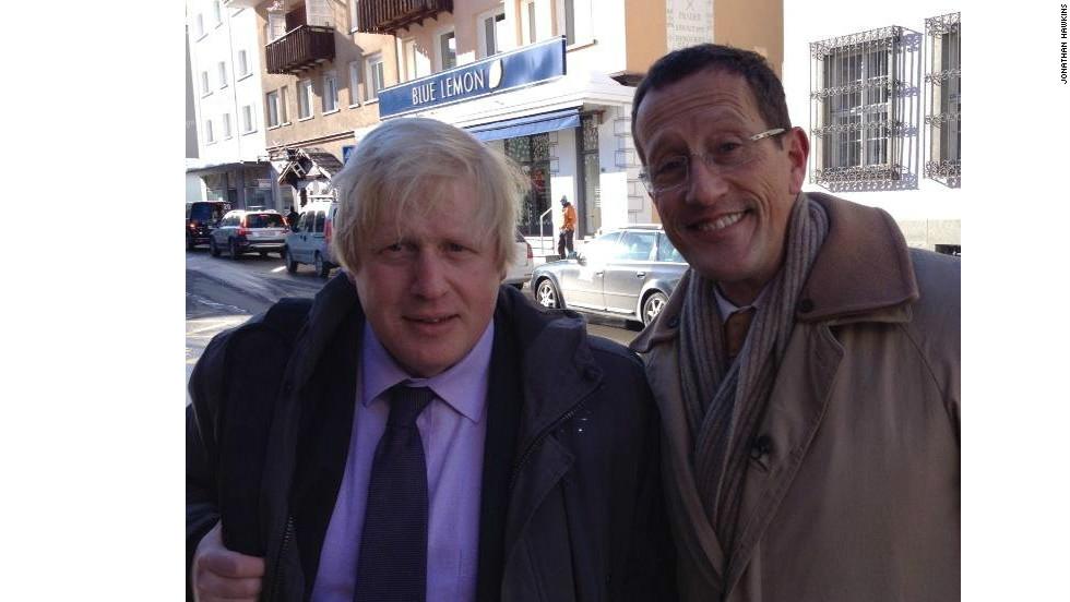 CNN's Richard Quest ran into London Mayor Boris Johnson on the streets of Davos.