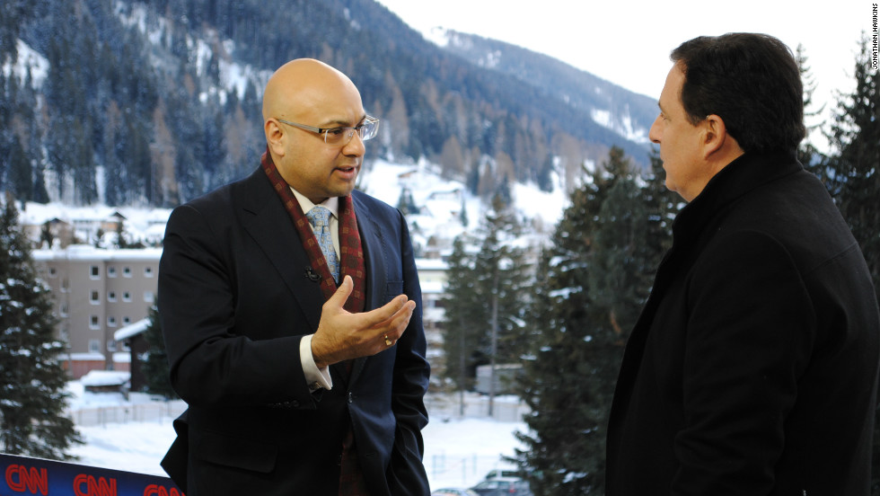 CNN's Chief Business Correspondent  Ali Velshi endured both freezing temperatures and snow storms whilst reporting from Davos.