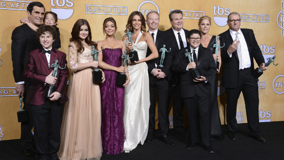 """The cast of """"Modern Family"""": Outstanding performance by an ensemble in a comedy series for """"Modern Family."""""""