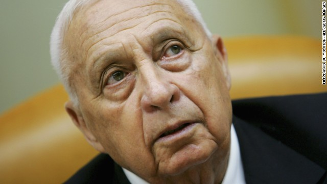 Israeli Prime Minister Ariel Sharon opens a cabinet meeting October 9, 2005, three months before he suffered a stroke.