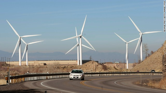 The United States is making  progress, Michael Brune says, moving away from fossil fuels to clean energy such as wind-powered turbines.