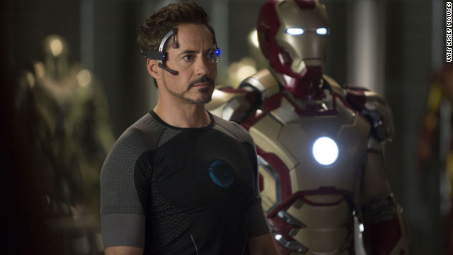 "Robert Downey Jr. stars as Tony Stark in ""Iron Man 3."""