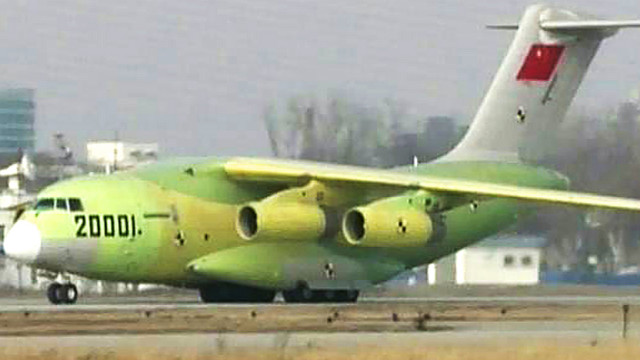 China unveils monster cargo jet