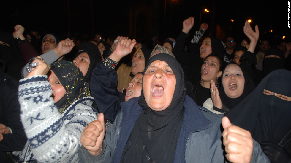 A cross section of Port Said society attended, including several hundred women. The 9 p.m. curfew came and went. The protesters stayed on the streets.