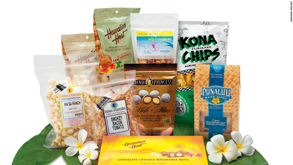 Hawaiian Airlines has teamed up with local producers to create a snack menu that evokes the spirit of Hawaii.