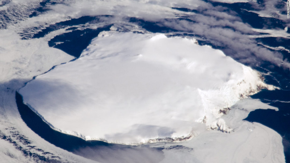 Bouvet is almost entirely covered by a glacier. Its nearest neighbor is Antarctica, 1,000 miles to the south.