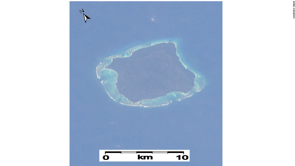 The inhabitants of North Sentinel Island in the Indian Ocean's Bay of Bengal are not known for hospitality. An aerial view is probably as close as you'll ever get.