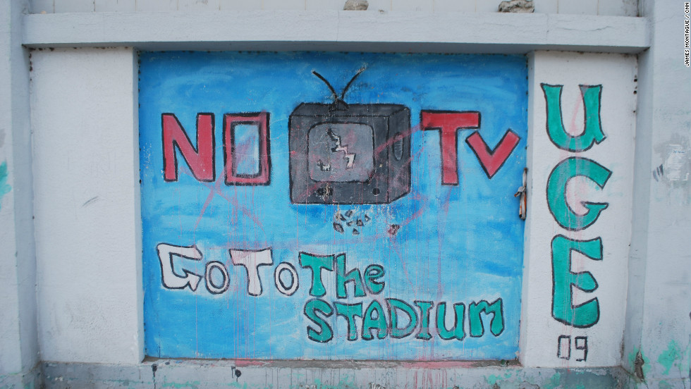 The stadium was only a few hundred meters away. It was here that more than 70 Al Ahly fans were killed. The stadium is closed with little prospect of any soccer returning here for a long while, even though the pitch had been freshly mowed. Al Masry has been temporarily banned from soccer when the league eventually restarts.