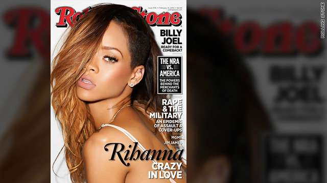 Rihanna covers the February 1 issue of Rolling Stone magazine, in which she discusses her relationship with Chris Brown.