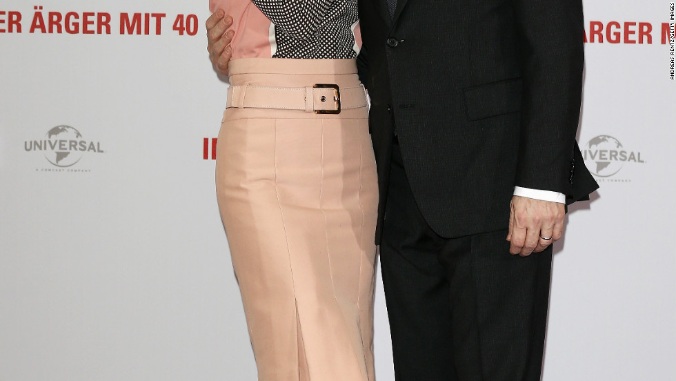 Leslie Mann and Judd Apatow promote their movie in Berlin, Germany.