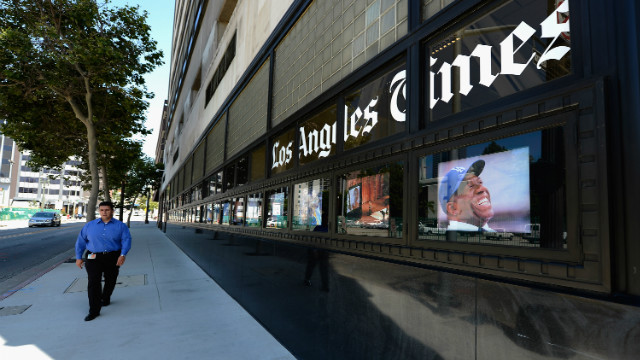 Some subscribers to the Los Angeles Times were burglarized after requesting their home delivery be temporarily held while on vacation.