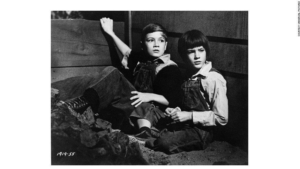 "Mary Badham plays Scout Finch in a 1962 film adaptation of Harper Lee's ""To Kill a Mockingbird."""