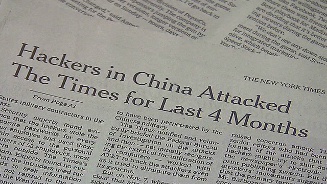 China denies New York Times hack attack