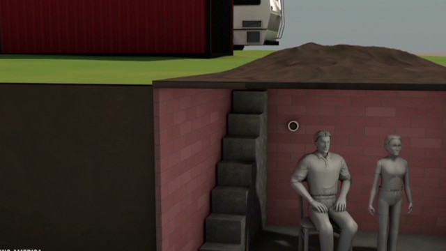 What Alabama suspect's bunker looks like