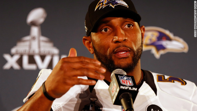 Baltimore Ravens linebacker Ray Lewis invokes his faith often.
