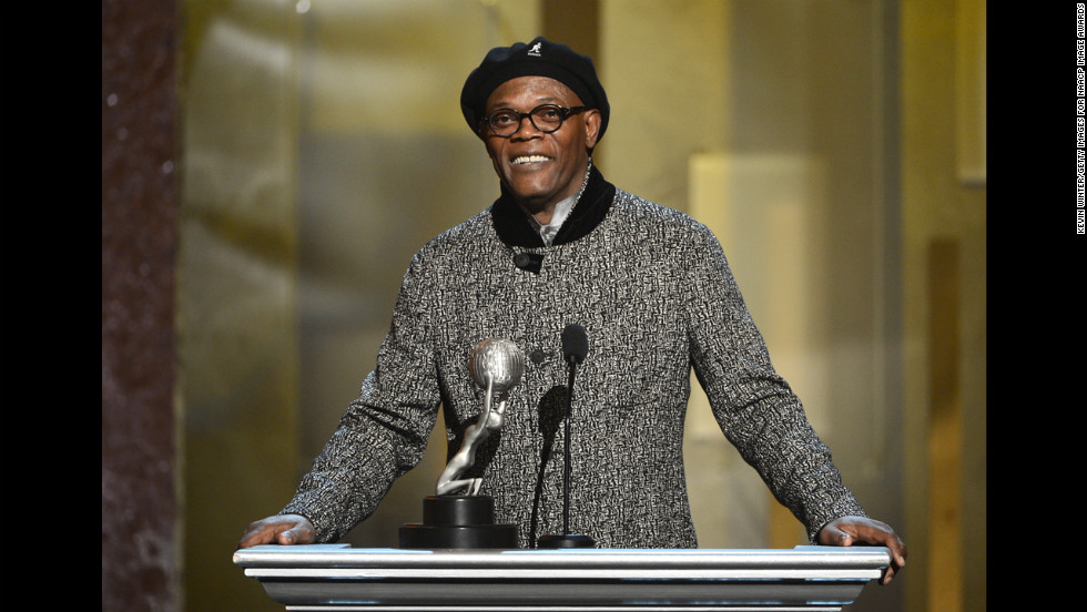 "Samuel L. Jackson won the award for Supporting Actor in a Motion Picture (""Django Unchained"") and presented the award for Actress in a Motion Picture. When Viola Davis wasn't available to receive the honor for her work in ""Won't Back Down,"" Jackson recruited someone to accept the award on her behalf..."