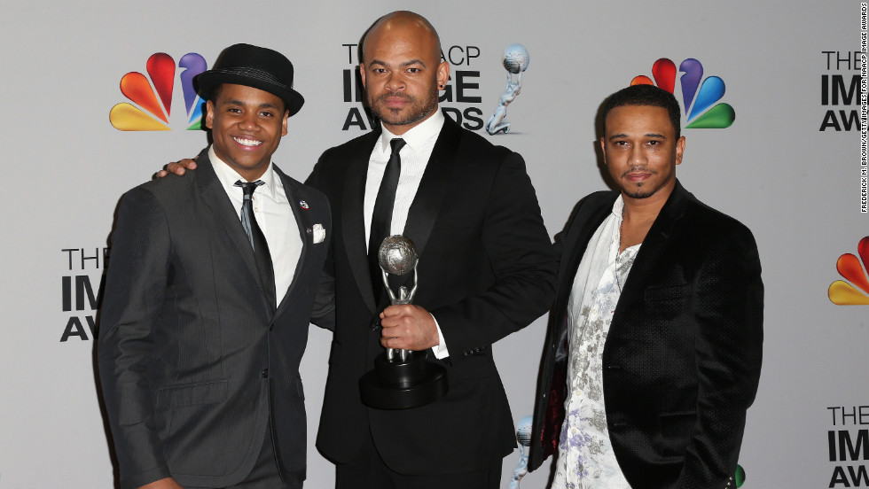 """Red Tails"" actor Tristan Wilds, director Anthony Hemingway and writer Aaron McGruder were on hand to accept two awards for the film: Outstanding Motion Picture and Independent Motion Picture."