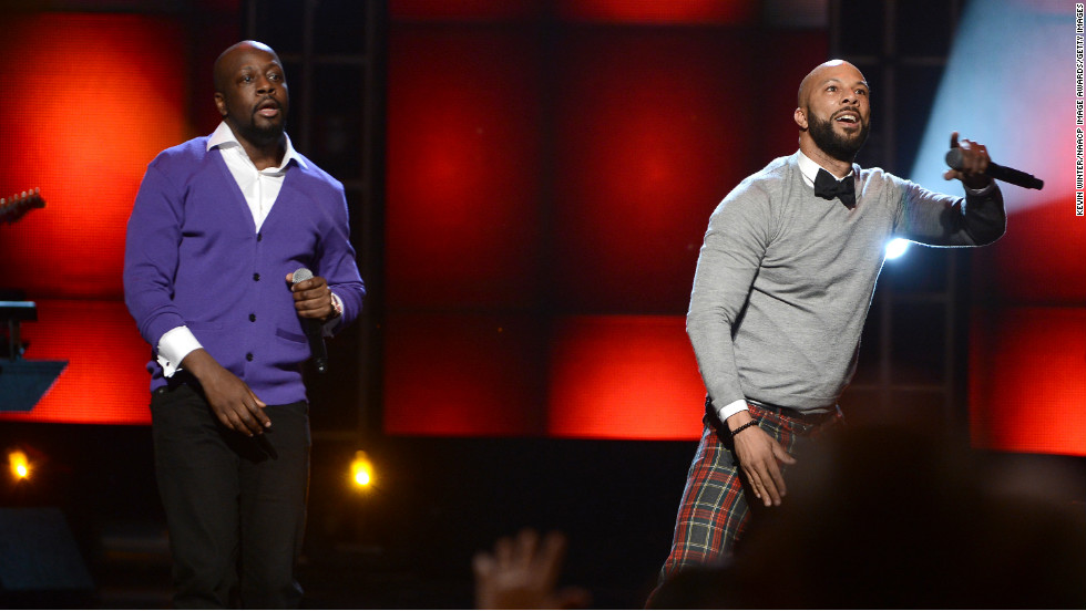 Wyclef Jean and Common performed for the crowd.
