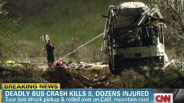 Deadly bus crash kills 8, dozens injured