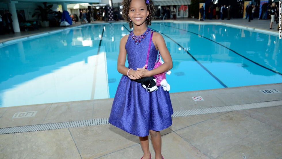 Quvenzhané Wallis poses for a portrait during the 85th Academy Awards Nominations Luncheon.
